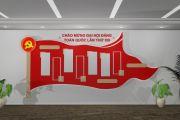 Thiết kế thi công vách phòng truyền thống đảng bộ